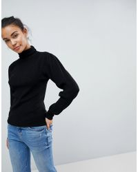 Fashion Union - Black Polo Neck Jumper - Lyst
