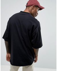 ASOS - Black Super Oversized Heavyweight T-shirt With Raw Edge for Men - Lyst