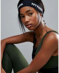 Ivy Park - Black Logo Elastic Headband - Lyst