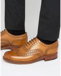 GRENSON - Brown Stanley Oxford Brogues for Men - Lyst