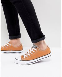 Converse - Multicolor Chuck Taylor All Star Ox Sneakers In Tan 157651c237 - Lyst