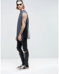 ASOS - Multicolor Oversized Sleeveless T-shirt With Contrast Panels for Men - Lyst