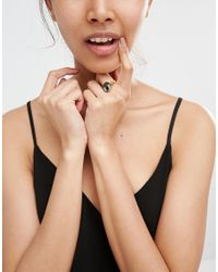 Me & Zena - Metallic Revesible Ring - Lyst