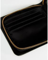 Vagabond - Zip Around Leather Purse In Black - Lyst