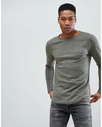 39739fd2a2680 Lyst - Tommy Hilfiger Crew Neck Long Sleeve Top in Green for Men