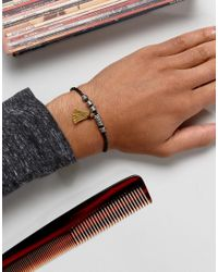 ASOS - Black Bracelet With Tassel for Men - Lyst