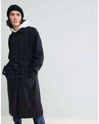 ASOS - Oversized Trench Coat In Black for Men - Lyst