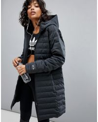 Adidas - Gray Reigning Champ Coat In Charcoal - Lyst