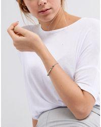ASOS - Metallic Twist Bar Chain Bracelet - Lyst