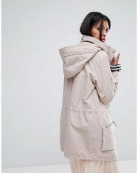 AllSaints | Pink Styler Parka Jacket | Lyst