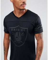 KTZ - Black Nfl Raiders Jersey With Mesh Back Logo Panel for Men - Lyst