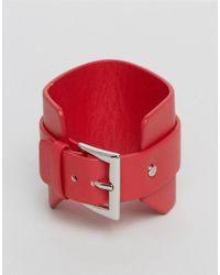Monki | Red Buckle Bracelet | Lyst