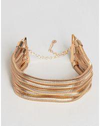 ALDO - Metallic Layered Chain Choker - Lyst