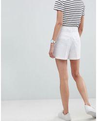 ASOS DESIGN - White Asos Tailored D-ring Linen Shorts - Lyst