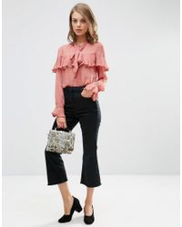 ASOS - Pink Ultimate Pussy Bow Ruffle Blouse - Lyst