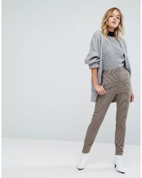 Monki - Gray Longline Knitted Cardigan - Lyst