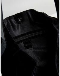 ASOS - Black Suede Contrast Shoulder Bag - Lyst