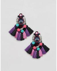 ALDO - Multicolor Woidien Multicoloured Tassel Statement Earrings - Lyst