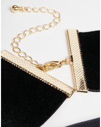ASOS - Black Night Velvet Choker Necklace - Lyst