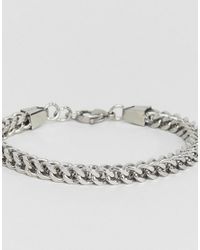 Seven London - Metallic Chain Bracelet In Silver for Men - Lyst