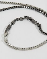 Emporio Armani - Metallic Stainless Steel Chain Necklace for Men - Lyst