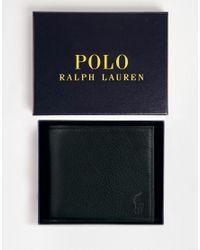 Polo Ralph Lauren | Black Leather Billfold Wallet for Men | Lyst