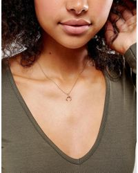 Dogeared - Metallic Rose Gold Plated Let Imagination Shine Crescent Necklace - Lyst