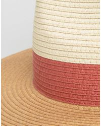 French Connection - Multicolor Straw Hat With Red Band Detail - Lyst
