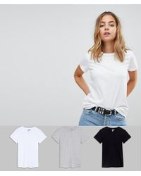 ASOS - White Ultimate T-shirt With Crew Neck 3 Pack Save 20% - Lyst