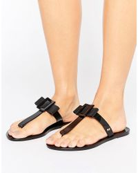 Zaxy - Black Tbar Thongs - Lyst