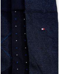 Tommy Hilfiger - Blue 3 Pack Sock In Gift Set for Men - Lyst