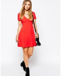 Glamorous | Red Tea Dress | Lyst