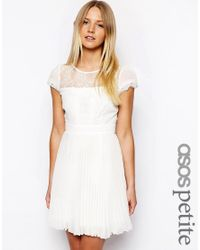 ASOS - Pink Exclusive Dress With Cap Sleeve - Lyst