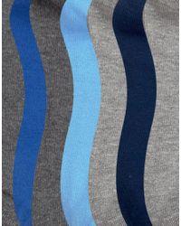 ASOS - Trainer Socks In Blue & Grey 7 Pack - Lyst