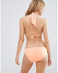 Seafolly - Orange Twist Band Hipster Bikini Bottom - Lyst