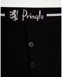Pringle of Scotland - Button Fly Boxer Trunks In 2 Pack Black for Men - Lyst