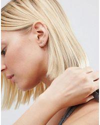 ASOS | Metallic Sterling Silver 9mm Hoop Earrings | Lyst