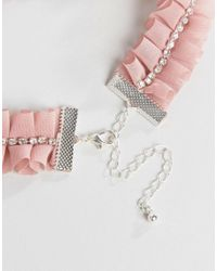 River Island - Pink Blush Crystal Necklace - Lyst