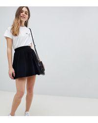 fc5234cc80142b ASOS Asos Design Petite Mini Skater Skirt in Black - Lyst