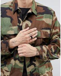 ASOS - Signet Ring In Black for Men - Lyst