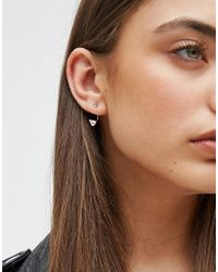 ASOS   Brown Mini Spike Swing Earrings   Lyst