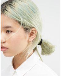 ASOS - Metallic Faux Pearl Swing Earrings - Cream - Lyst