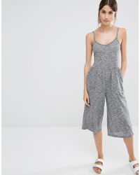 Stitch & Pieces Gray Culotte Jumpsuit