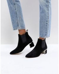 Gestuz - Black Ankle Boots With Block Heel - Lyst