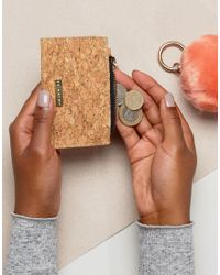 Skinnydip London - Natural Cork Zip Top Coin Purse - Lyst
