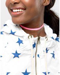 ASOS | Pink Neon Velvet Choker Necklace | Lyst