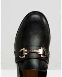 New Look - Black Buckle Loafer - Lyst