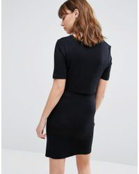 New Look - Black Double Layered Nursing Dress - Lyst