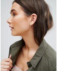 Pilgrim - Metallic Gold Plated Hoop Earrings - Lyst