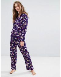 726ef62715 Lyst - Boux Avenue Gingerbread Men Pyjamas In A Bag in Blue